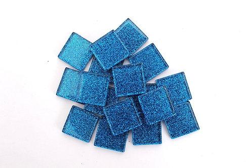 Blue Glitter Mosaic Tile - 3/4 Inch