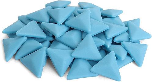Triangle Mosaic Tile - Hawaiian Blue - Matte Front View