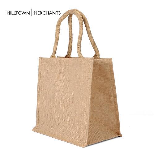 Medium Burlap Tote Bag - 12-Pack