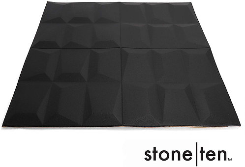 Craft Faux Geometric Wall Panels - Foam - Black Graphic Front View