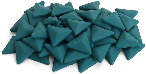 Triangle Mosaic Tile Pieces - Caribbean Current - Matte - Front View