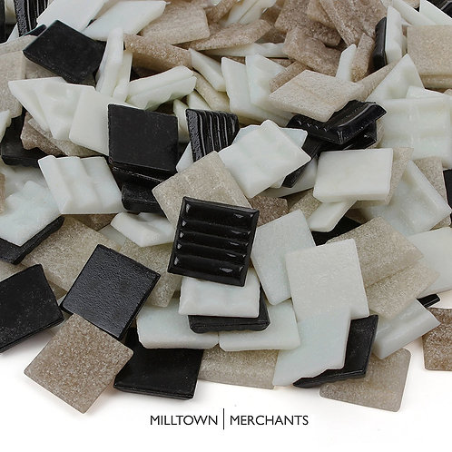 Black, Tan, and White Venetian Blend 20mm