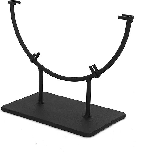 """Premium Round Display Stand 8"""" Front Diagonal View"""