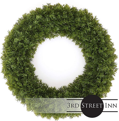 Cypress Wreath Large Front View