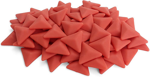 Triangle Mosaic Tile - Vermillion - Matte - Front View