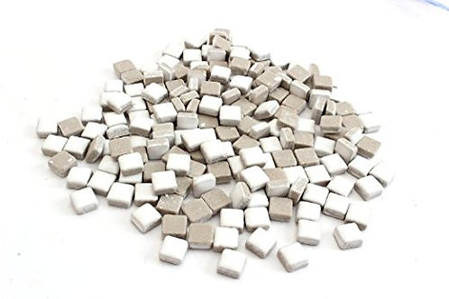 White Ceramic Mini Tile - 4/10 Inch