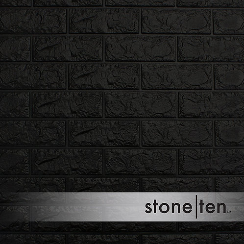 Black Foam Brick Wall Panel