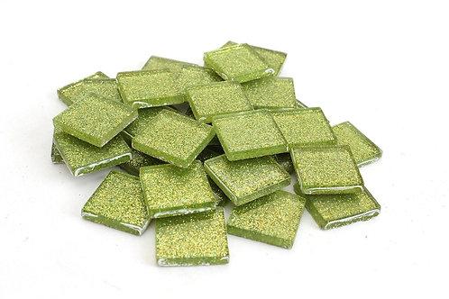 Lime Green Glitter Mosaic Tile - 3/4 Inch