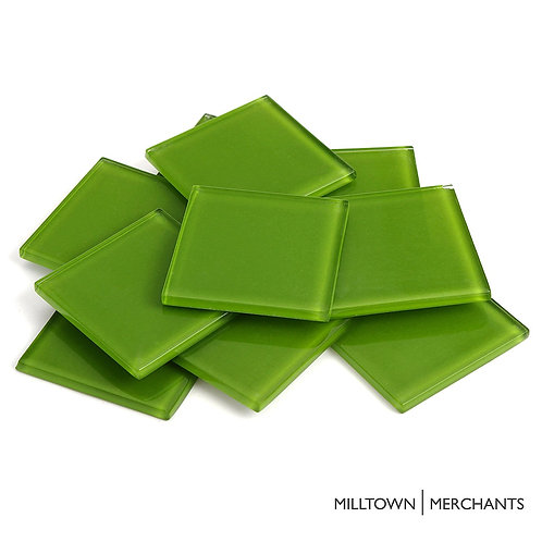 Lime Green Crystal Tile 48mm