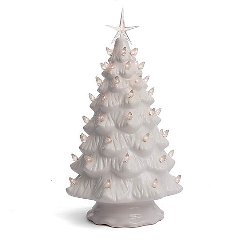 White Ceramic Christmas Tree - Large