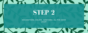 Step 2 of DIY greenery panel wedding photo backdrop