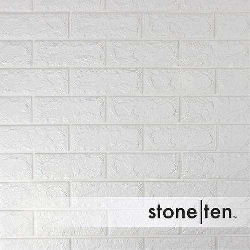 White Foam Brick Wall Panel