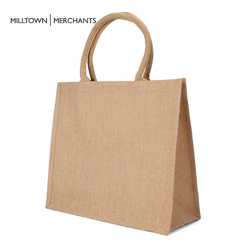 Large Burlap Tote Bag - 12-Pack