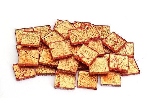 Orange 3/4 Inch Foil Mosaic Tile