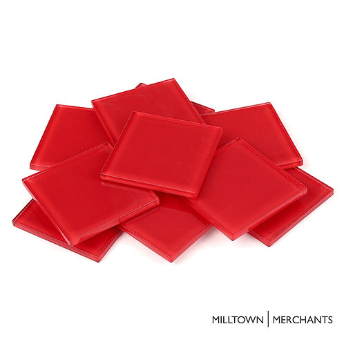 Red Crystal Tile 48mm