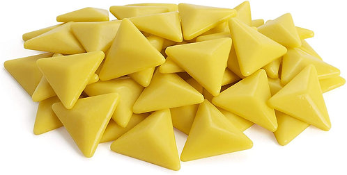 Triangle Mosaic Tile Pieces - Mellow Yellow - Glossy - Front View