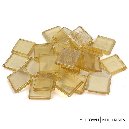 Yellow Iridescent Tile 22mm