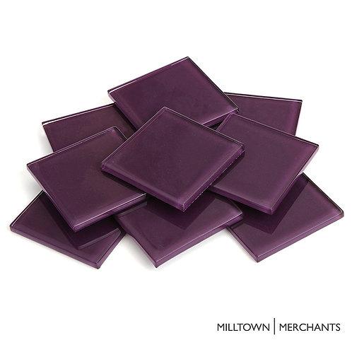 Dark Purple Crystal Tile 48mm