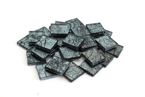 Blue-Black 3/4 Inch Foil Mosaic Tile