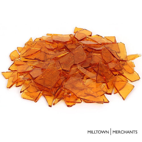 Transparent Amber Stained Glass Cobbles