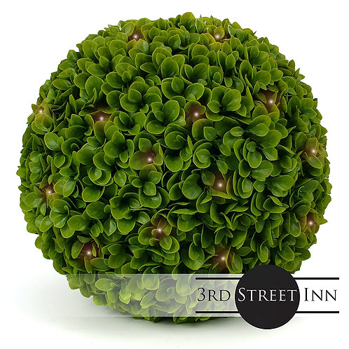 XL Jasper Lighted Faux Topiary Ball Front View