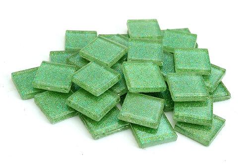 Light Green Glitter Mosaic Tile - 3/4 Inch