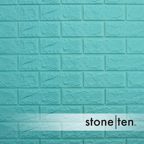 Seafoam Blue Foam Brick Wall Panel