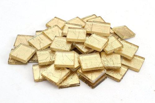 Gold 3/4 Inch Foil Mosaic Tile