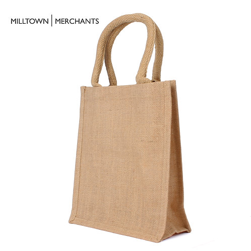 Small Burlap Tote Bag