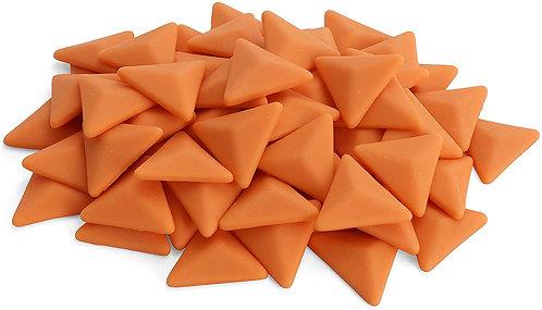 Triangle Mosaic Tile Pieces - Pumpkin Peel - Matte - Front View