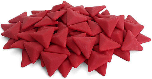 Triangle Mosaic Tile Pieces - Raspberry - Matte - Front View