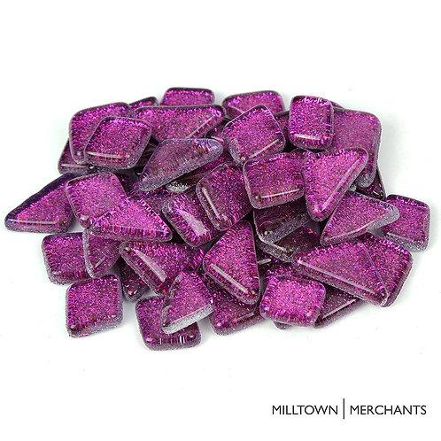 Deep Purple Glitter Smooth Mosaic Tile