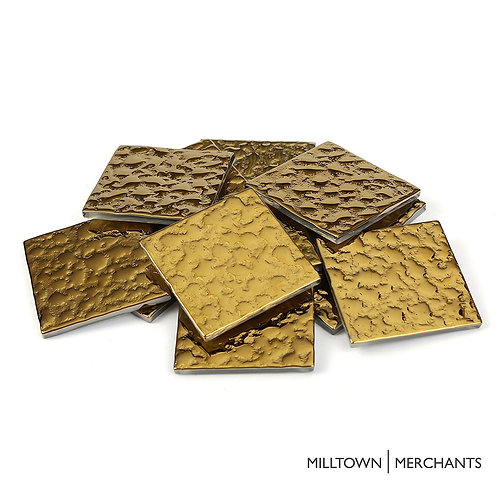 Gold Bubble Tile 48mm