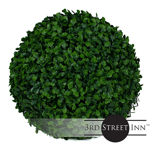 Medium Artificial Boxwood Topiary Ball Front View
