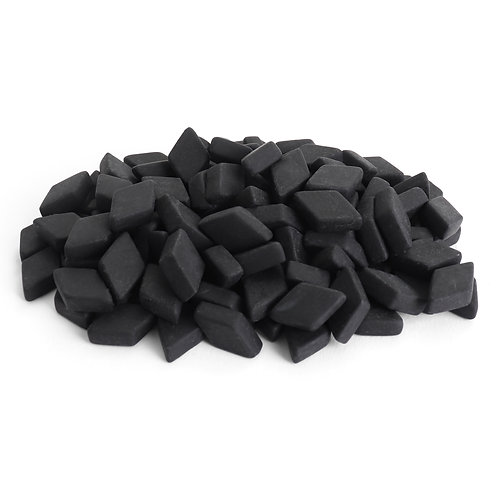 Diamond Mosaic Tile Pieces - Obsidian - Matte - Front View