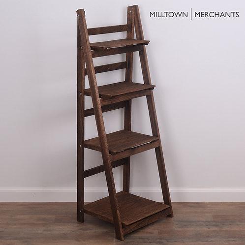 Dark Brown Ladder Bookshelf Main View