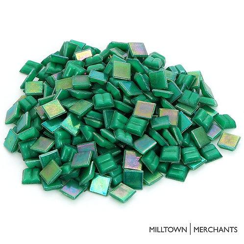 Iridescent Green Mosaic Tile - 4/10 Inch