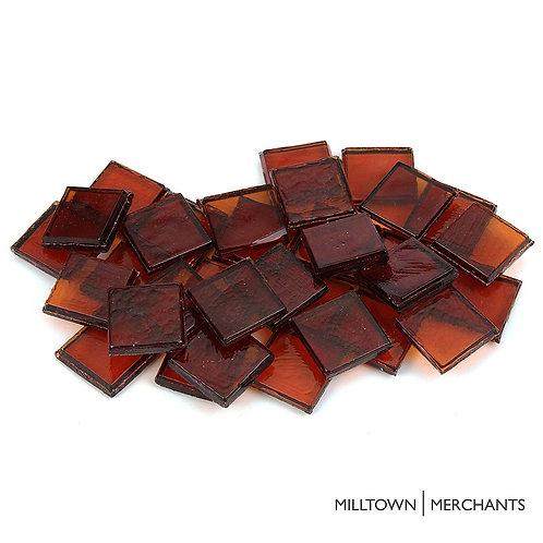 Dark Amber Transparent Tile 22mm