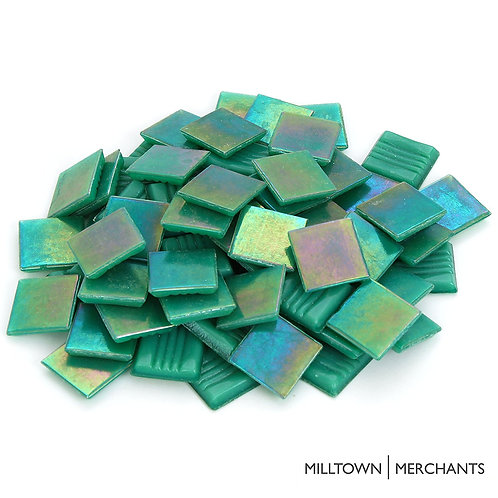 Iridescent Green Mosaic Tile - 3/4 Inch