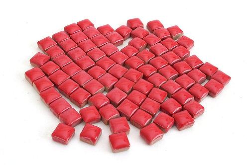 Red Ceramic Mini Tile - 4/10 Inch