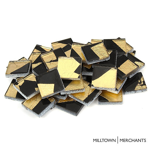 Gold-Black Foil Tile 20mm