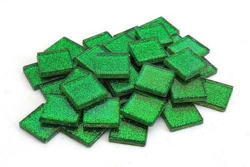 Green Glitter Mosaic Tile - 3/4 Inch