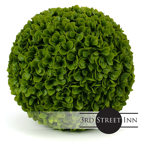 Medium Artificial Jasper Topiary Ball Front View
