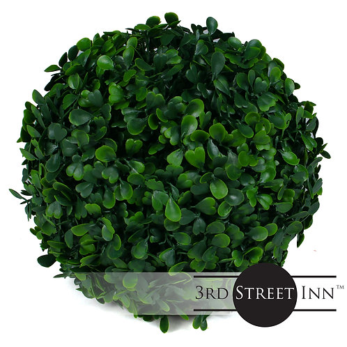 Small Artificial Boxwood Topiary Ball Front View