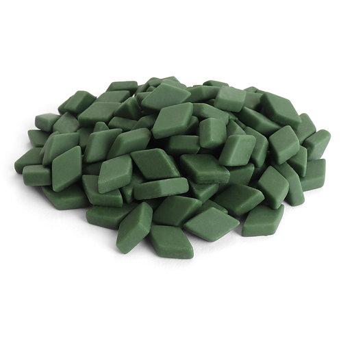 Diamond Mosaic Tile Pieces - Cedar Green - Matte - Front View