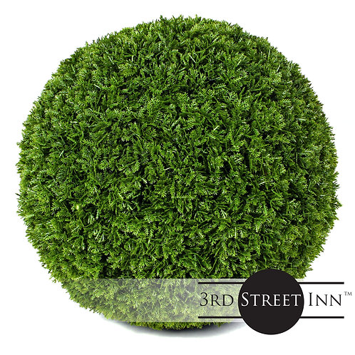 Medium Cypress Artificial Topiary Ball Front View