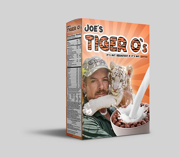 CONCEPT:  Joe Exotic Cereal