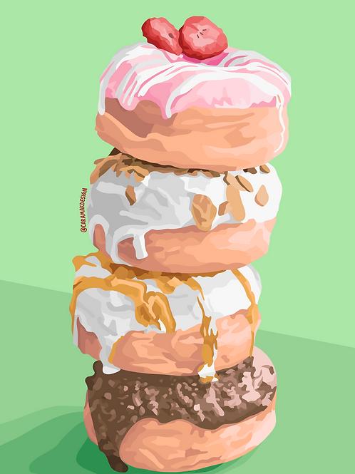 Doughnut Stack Print