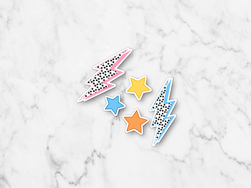 Lightning and Stars Sticker Multipack