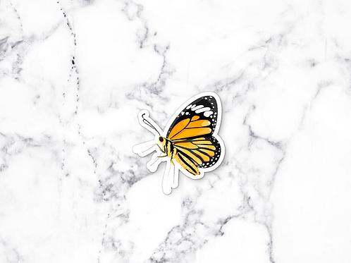 Yellow Butterfly Sticker